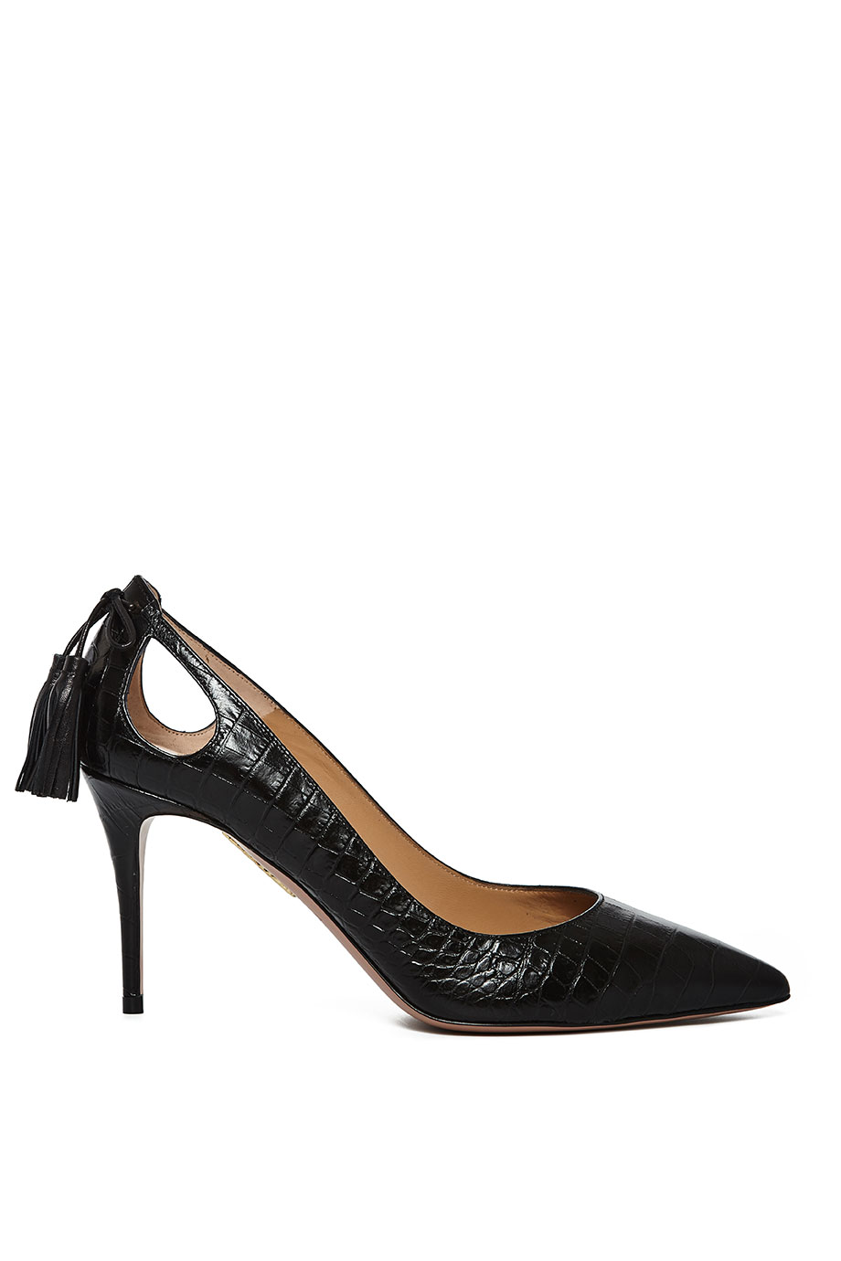 Forever Marilyn croc-print leather pumps