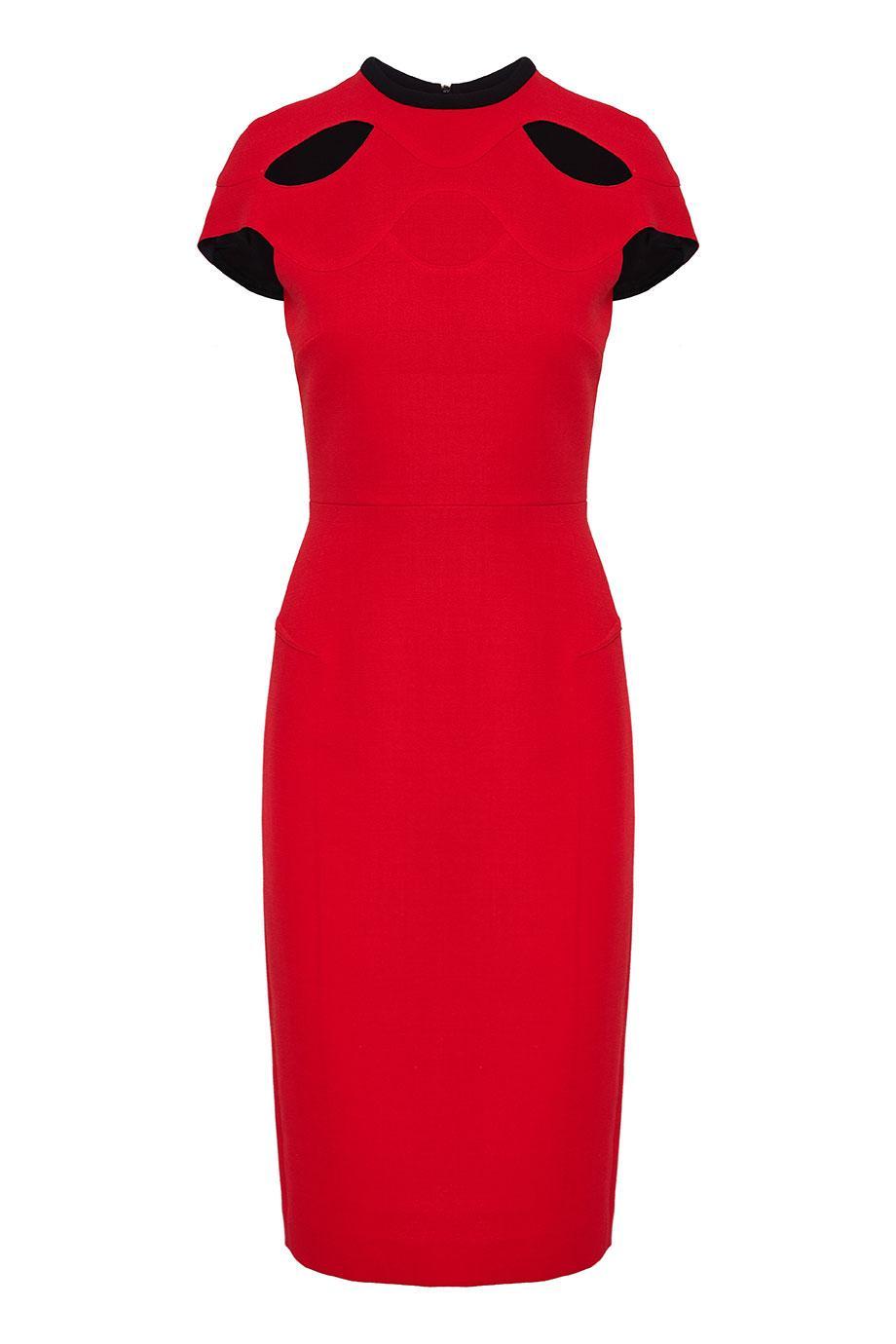 Talland cutout wool-crepe midi dress
