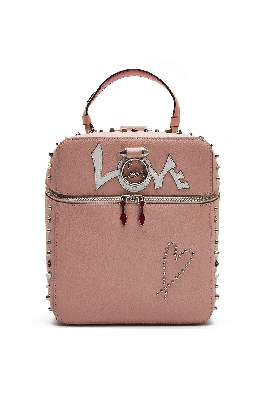 Rubylou spiked textured-leather backpack