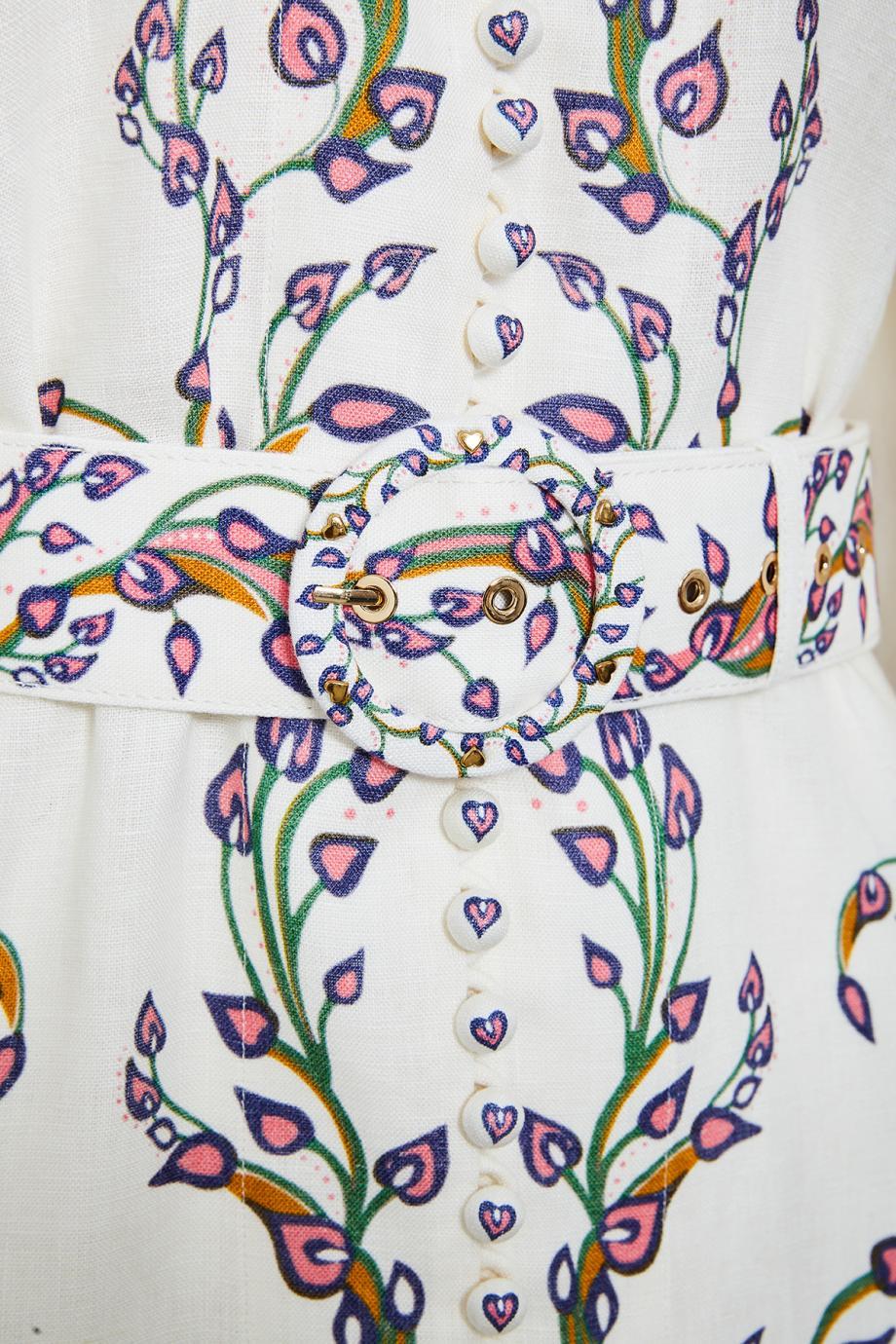 Lovestruck printed linen mini dress