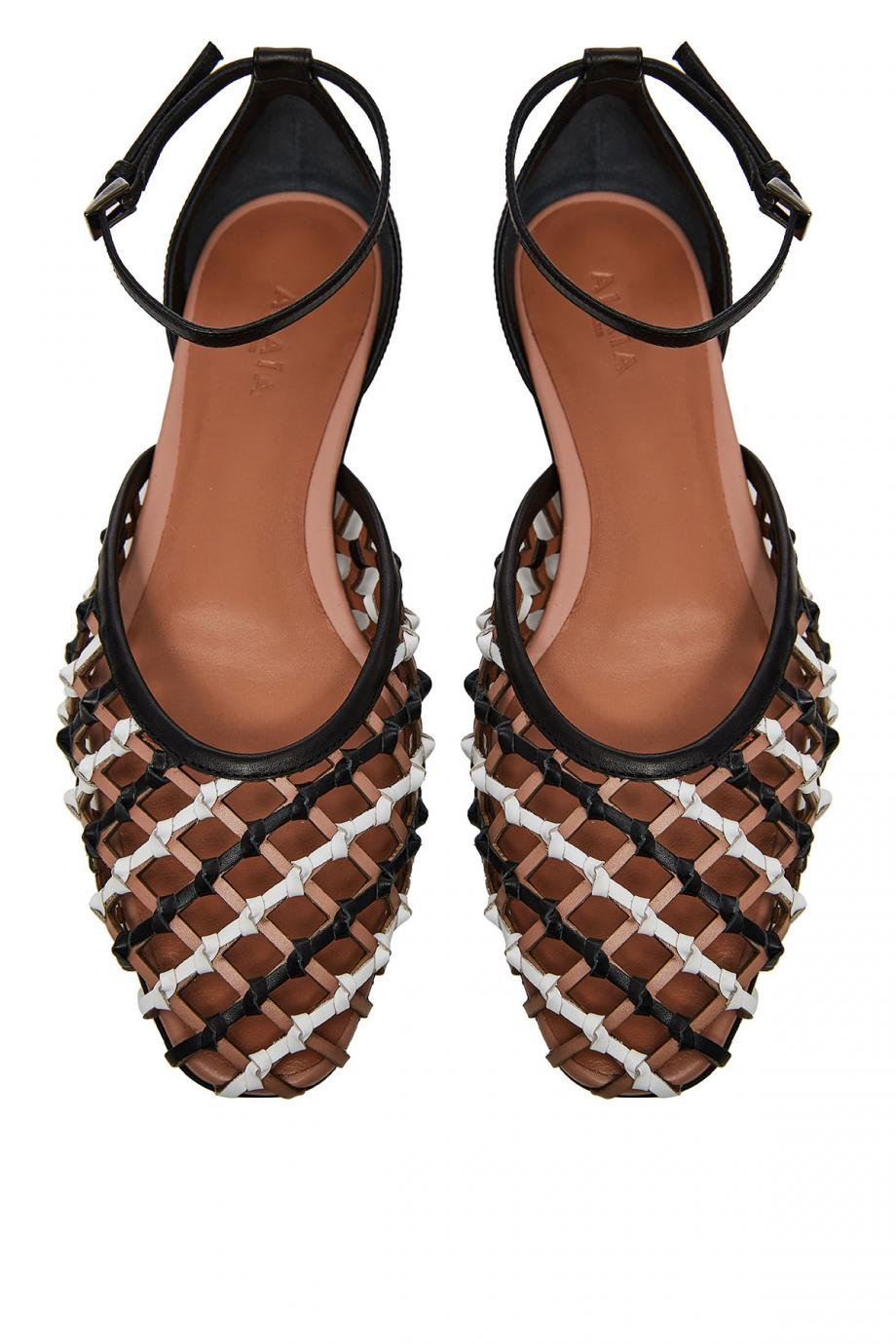 Braided leather flats
