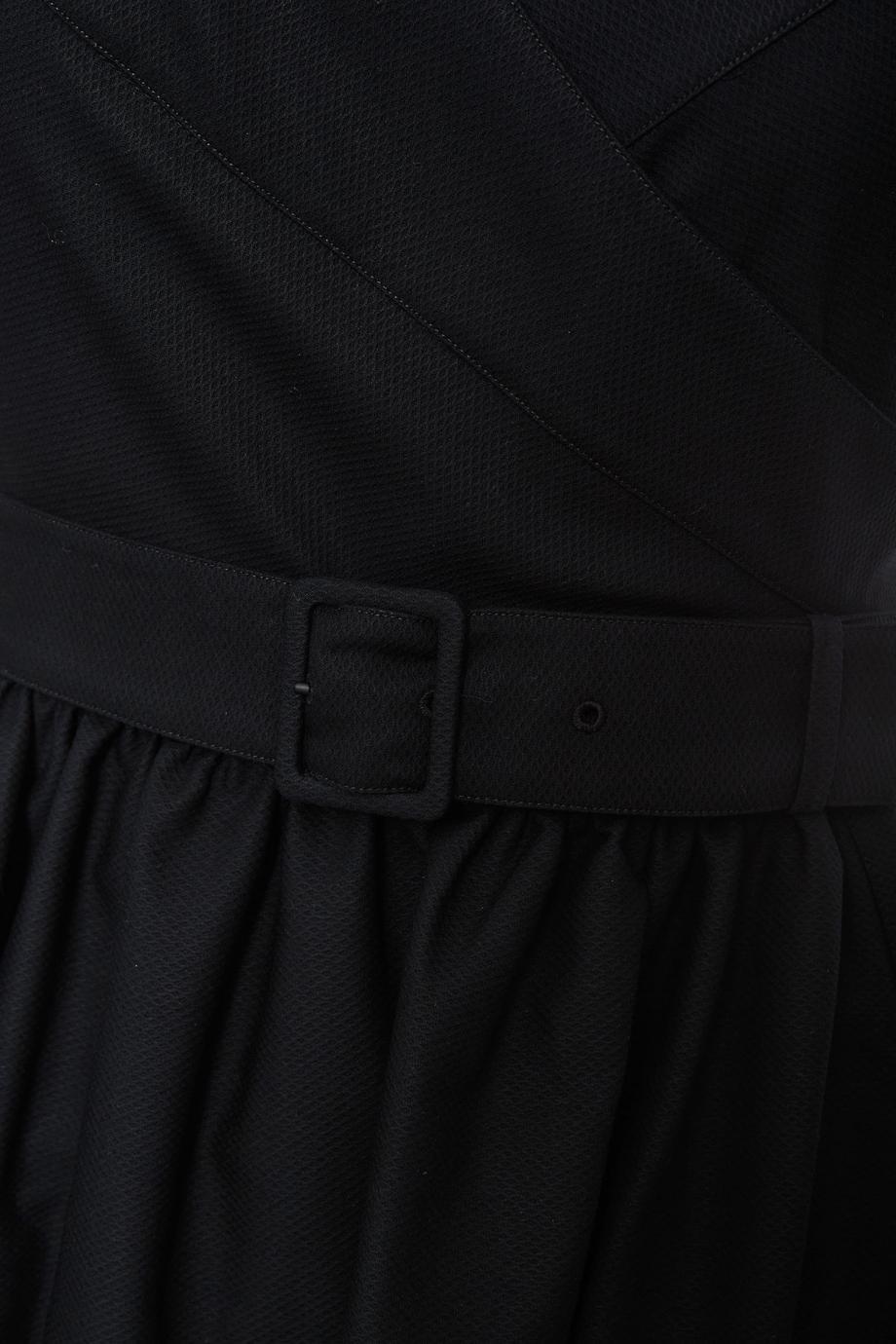 Belted cotton midi dress