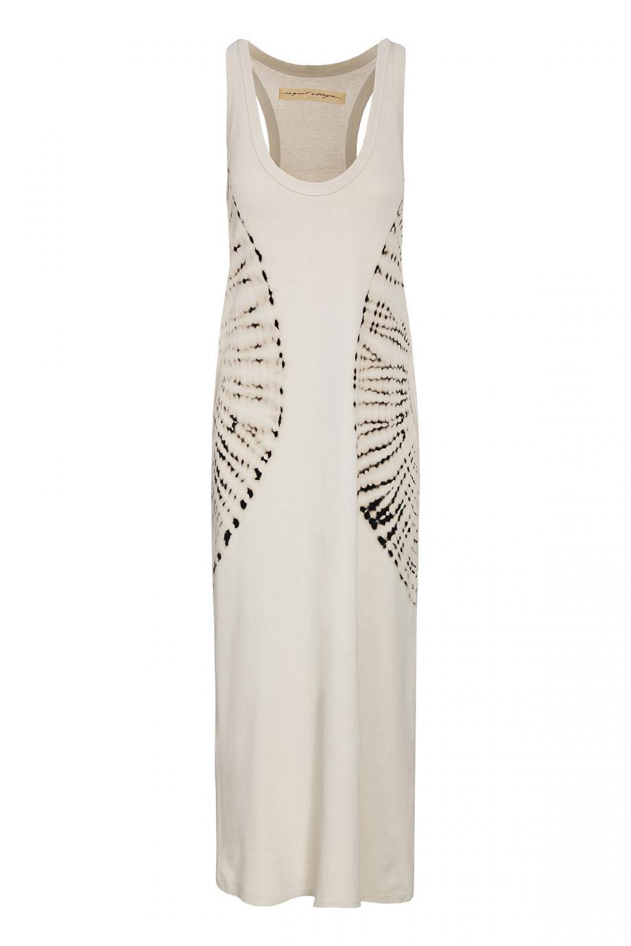 Tye-dye cotton midi dress