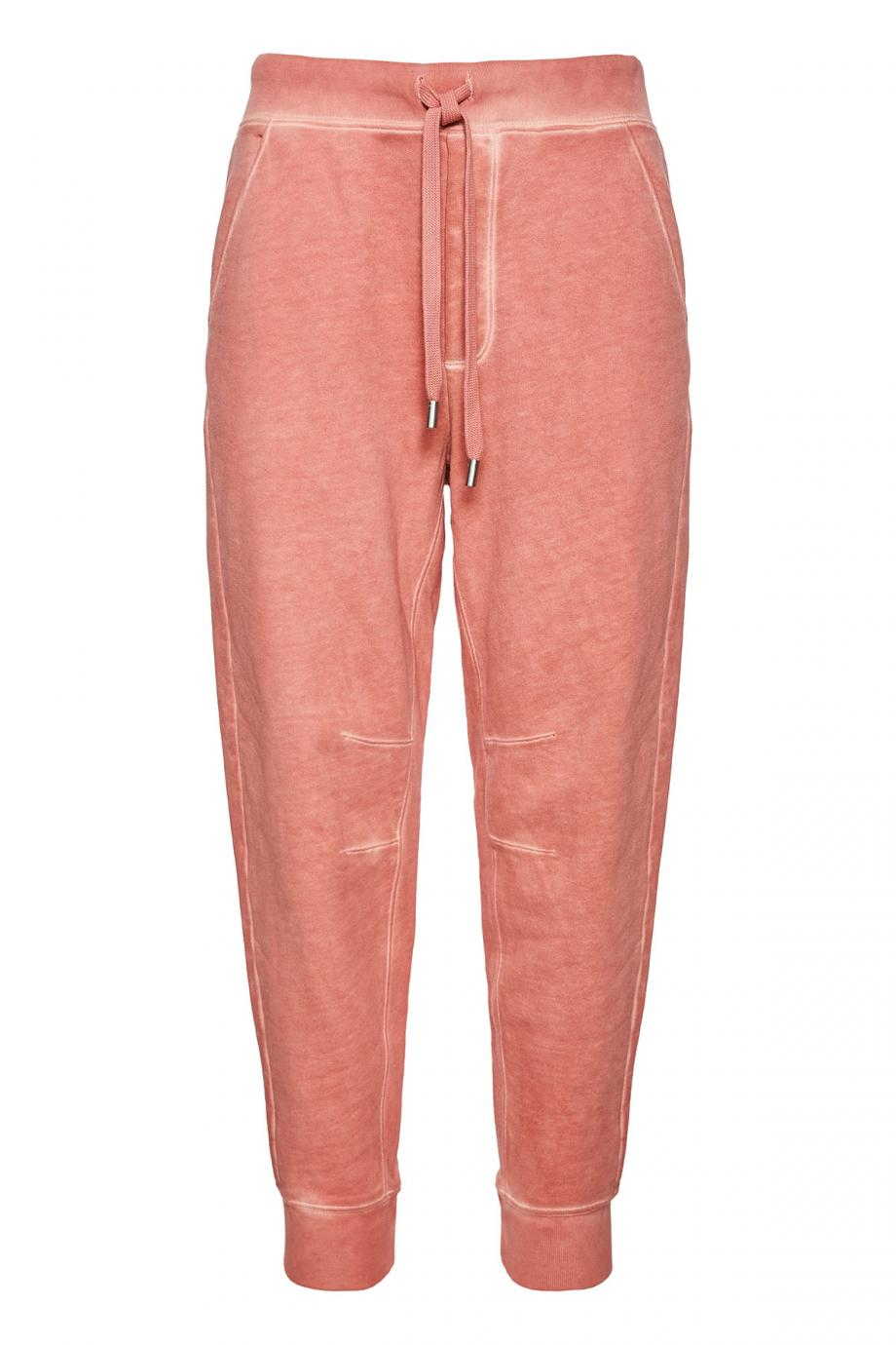 Cotton terry track pants