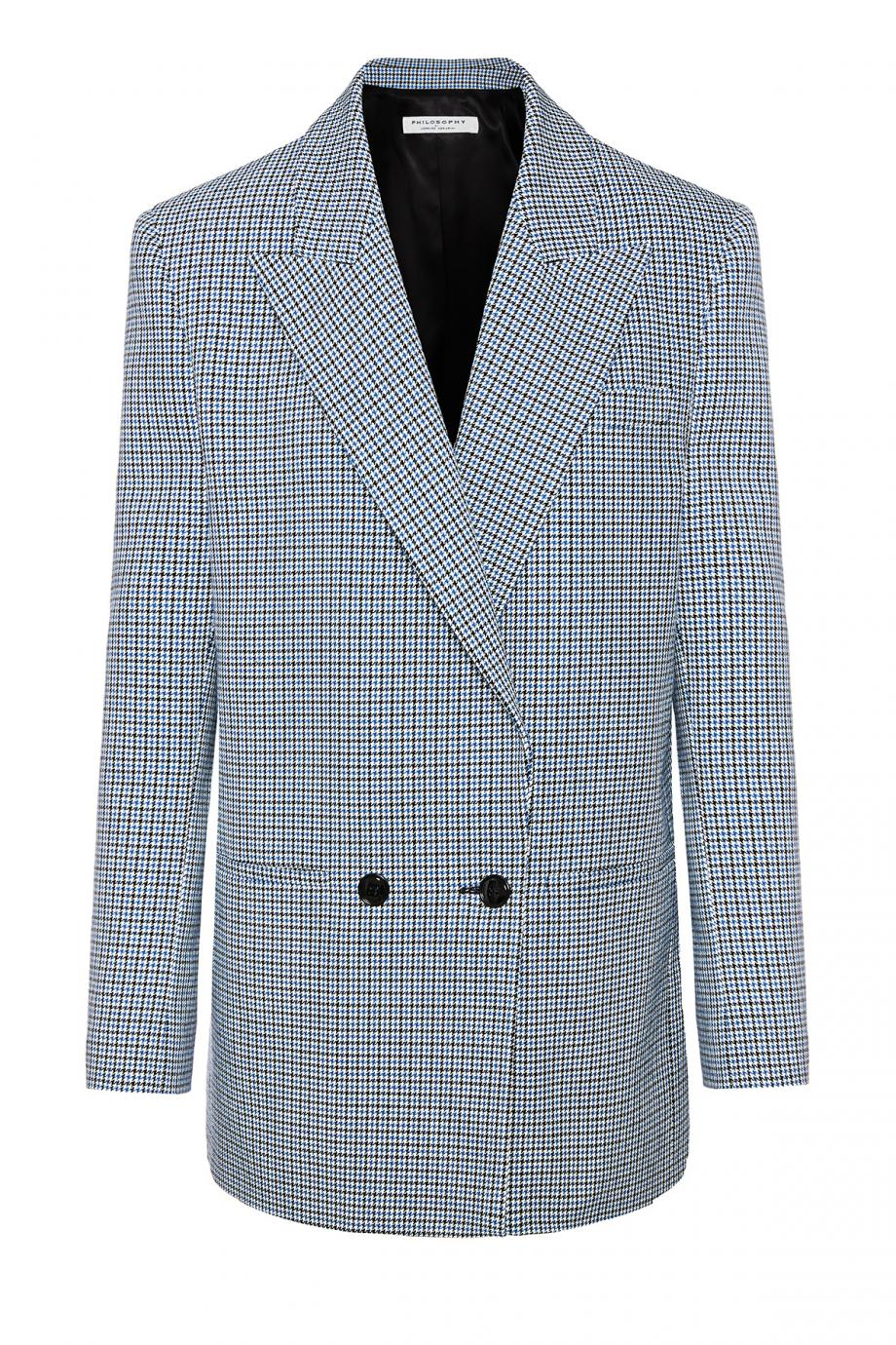 Houndstooth cotton blazer
