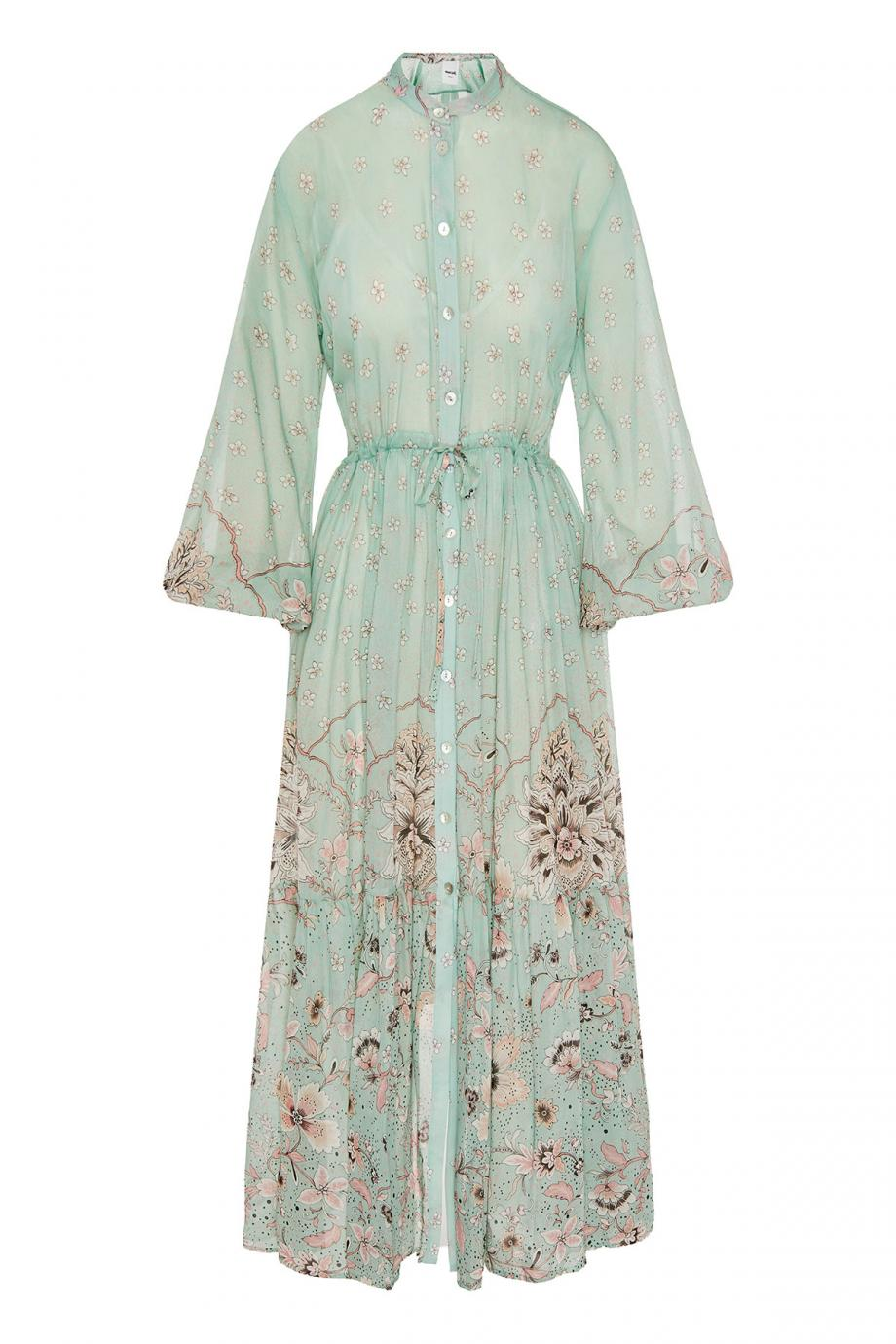 Sophie printed cotton and silk maxi dress