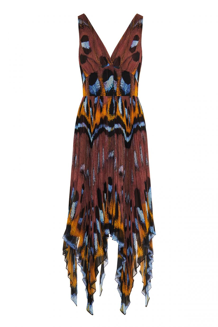 Annabella printed crepe midi dress