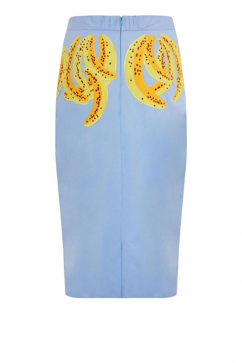 Gilda embroidered cotton midi skirt