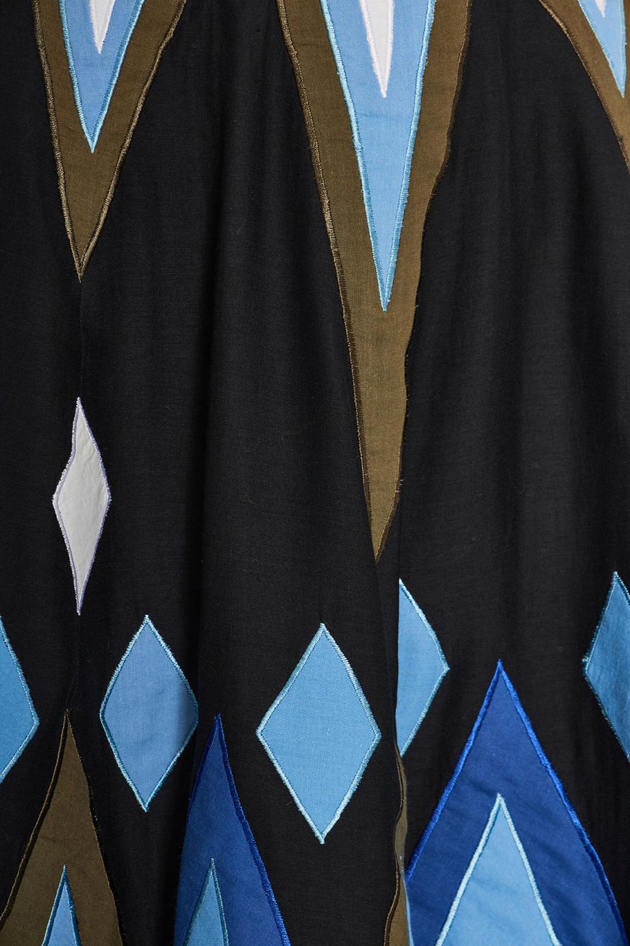 Stella embroidered cotton maxi skirt