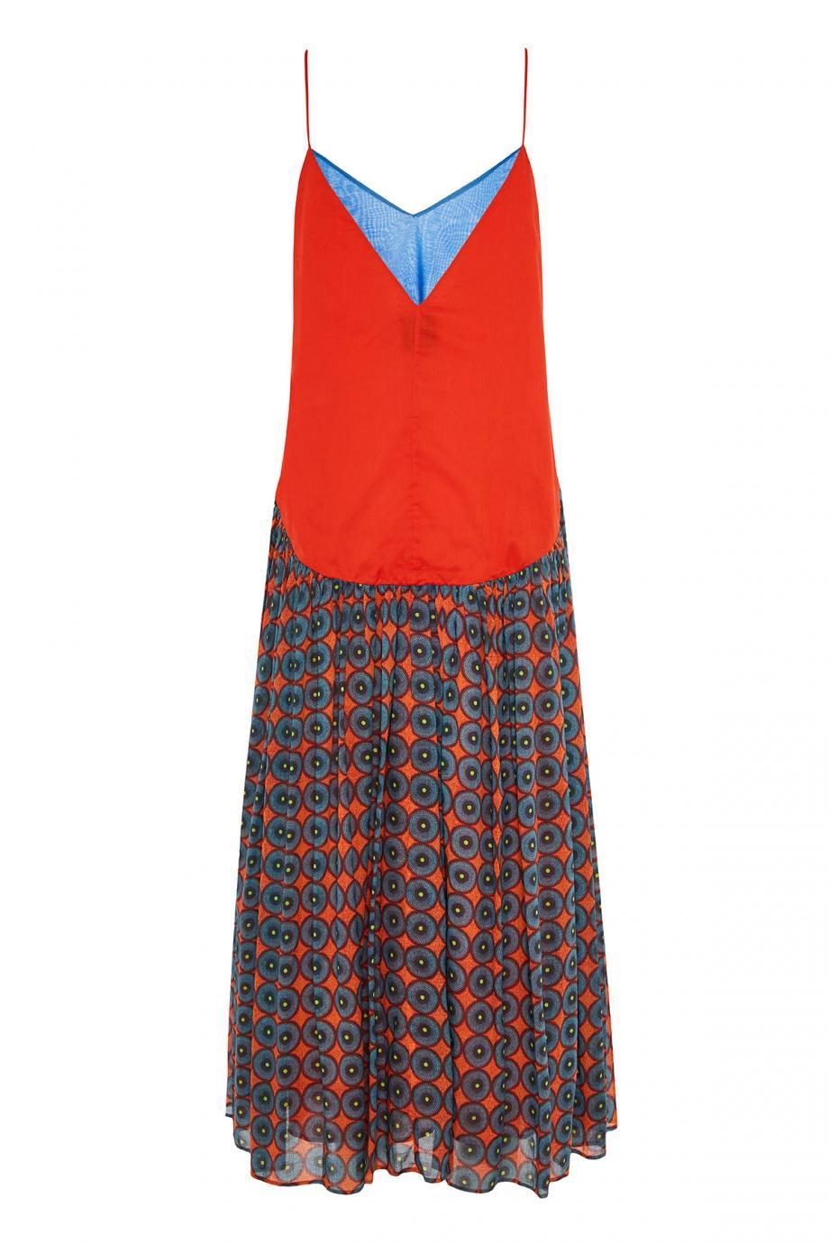 Lola printed cotton maxi dress