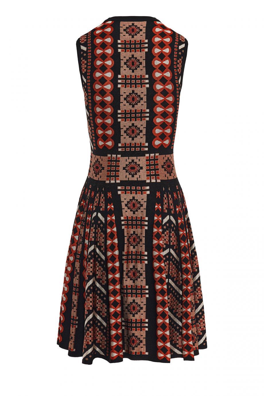 Kilim jacquard-knit mini dress