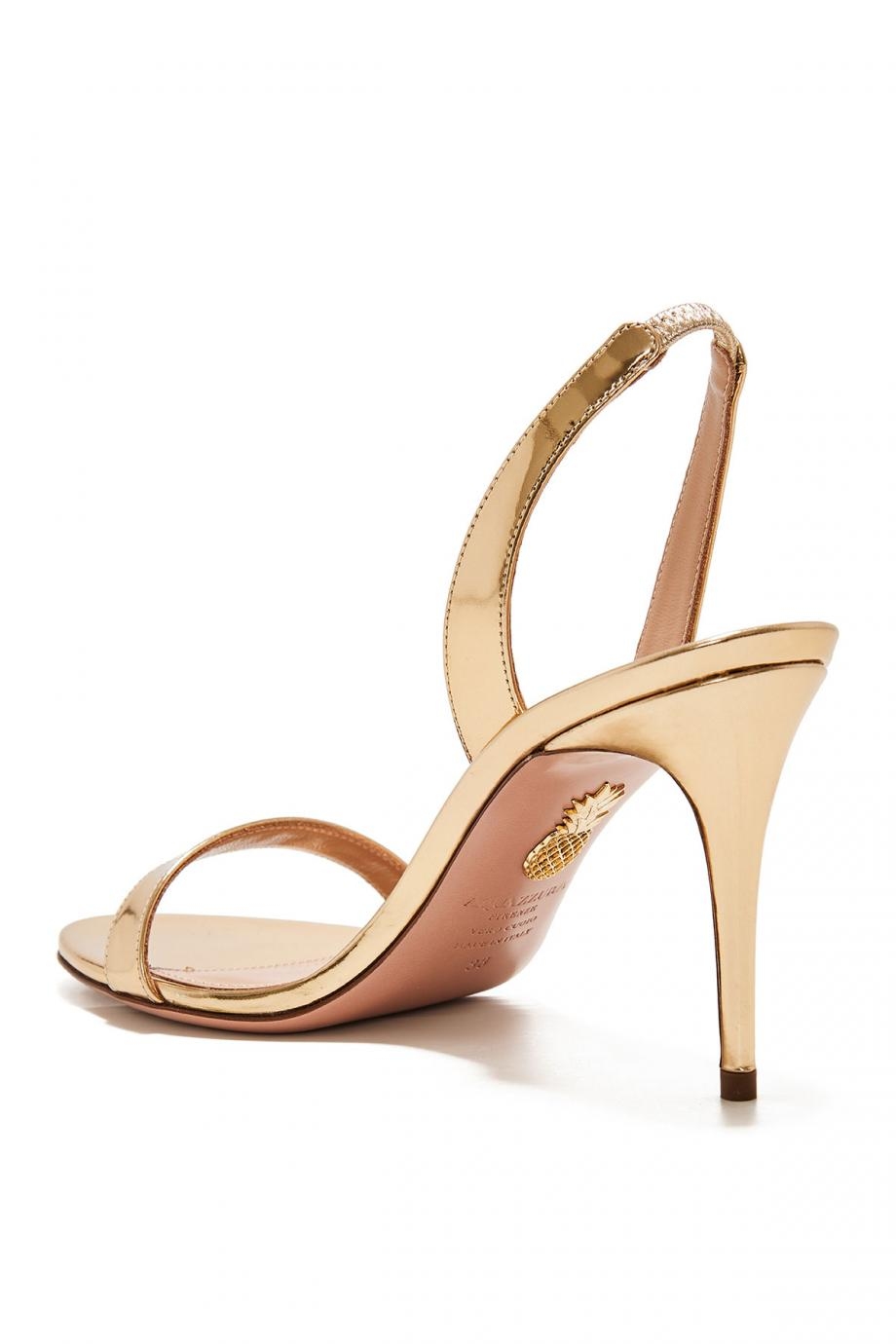 So Nude mirrored leather sandals