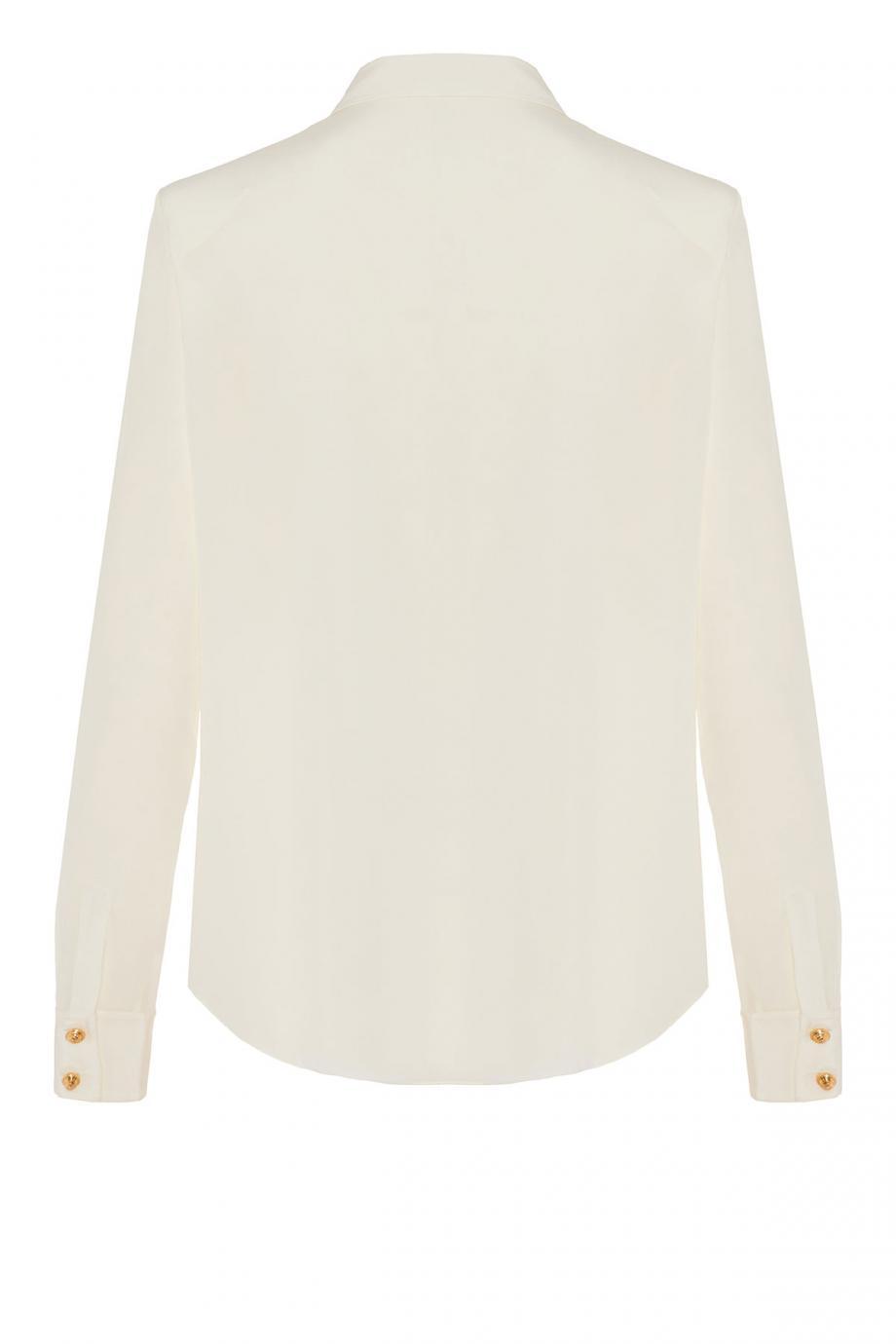 Embellished silk crepe de chine shirt