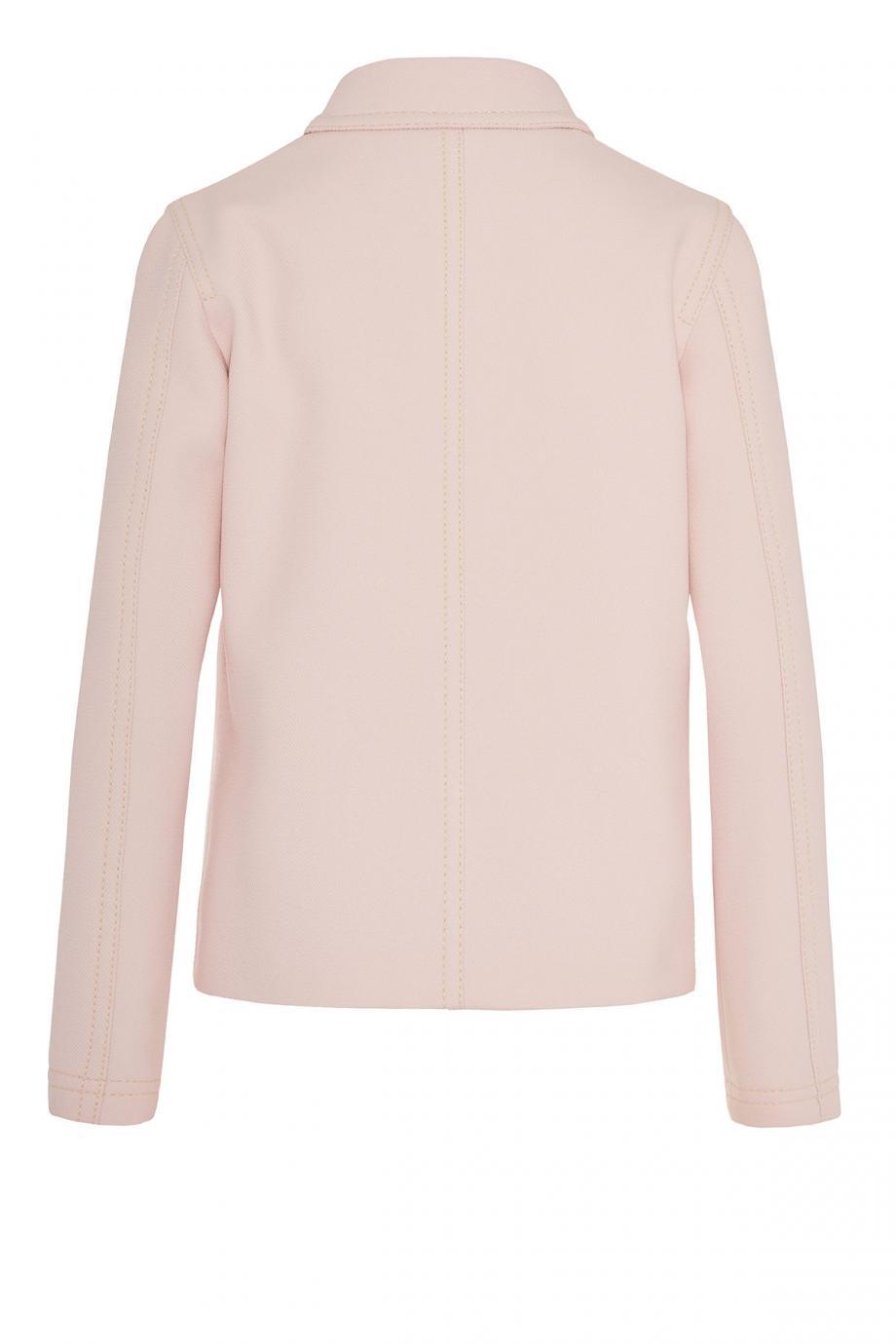 Embellished crepe jacket