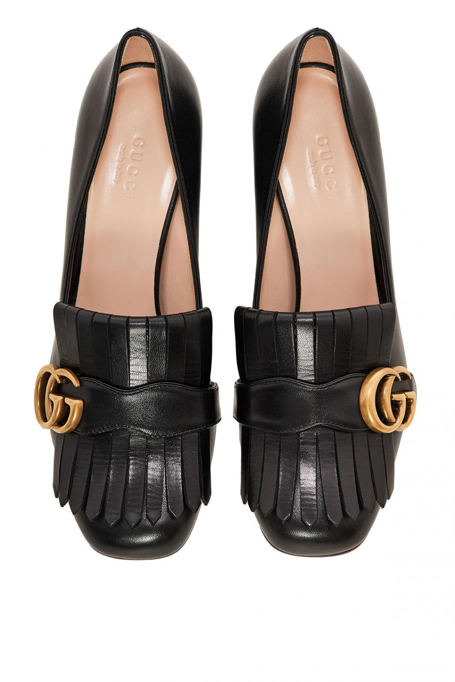 Marmont fringed leather pumps