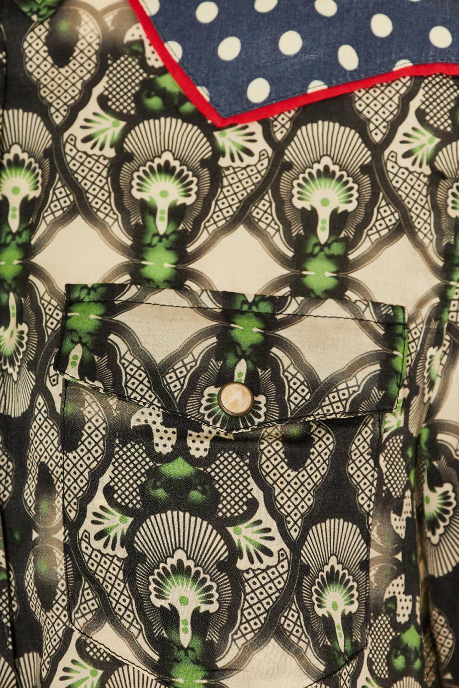 Arizona printed cotton and silk mini dress