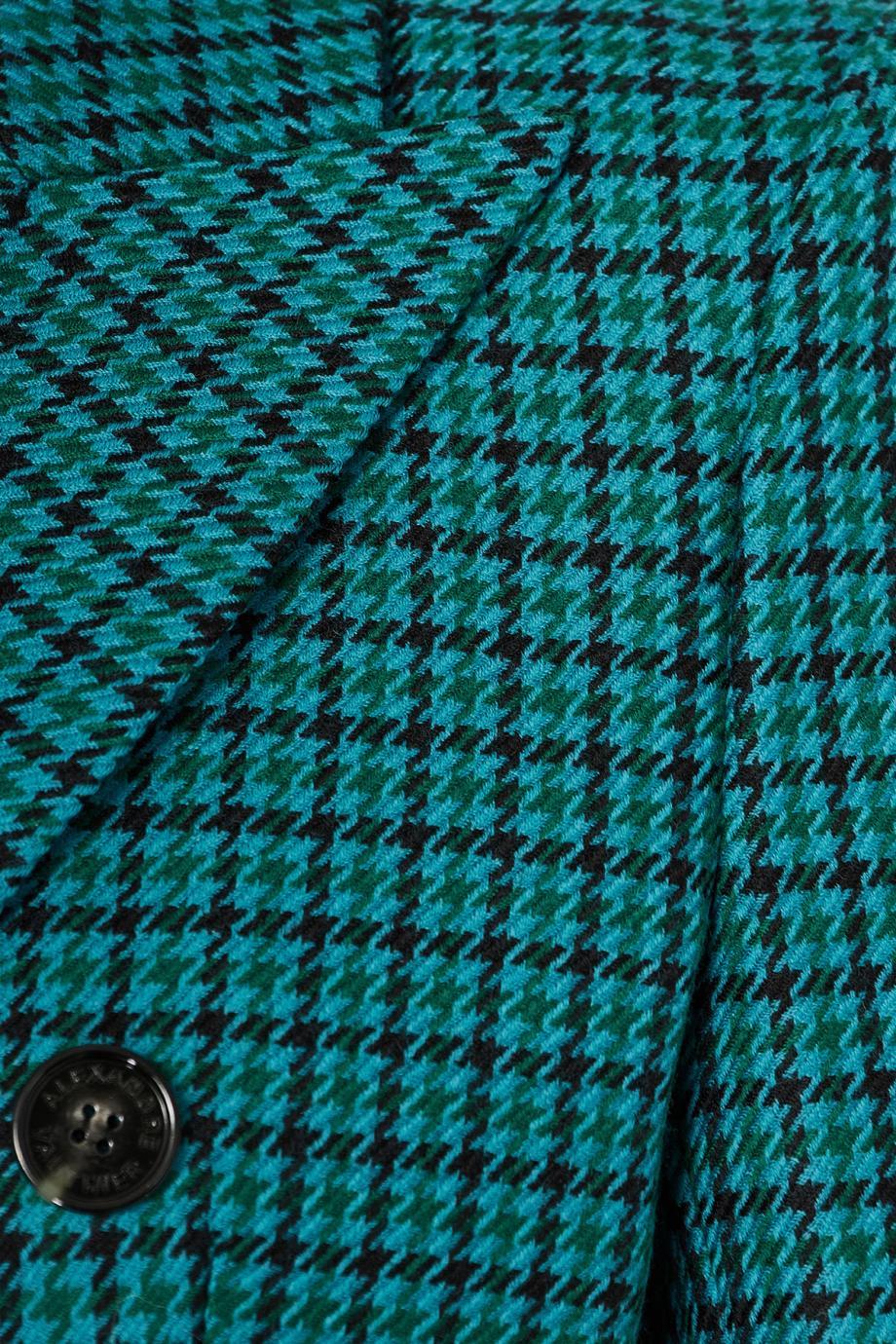 Houndstooth wool blazer