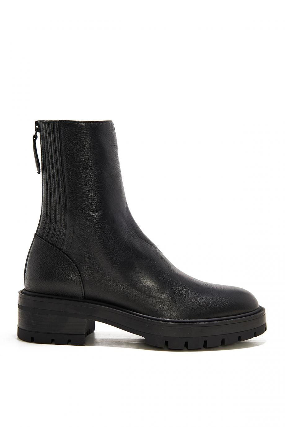 Saint Honore' leather combat boots