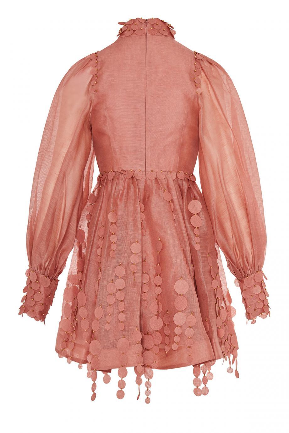 Concert linen and silk mini dress