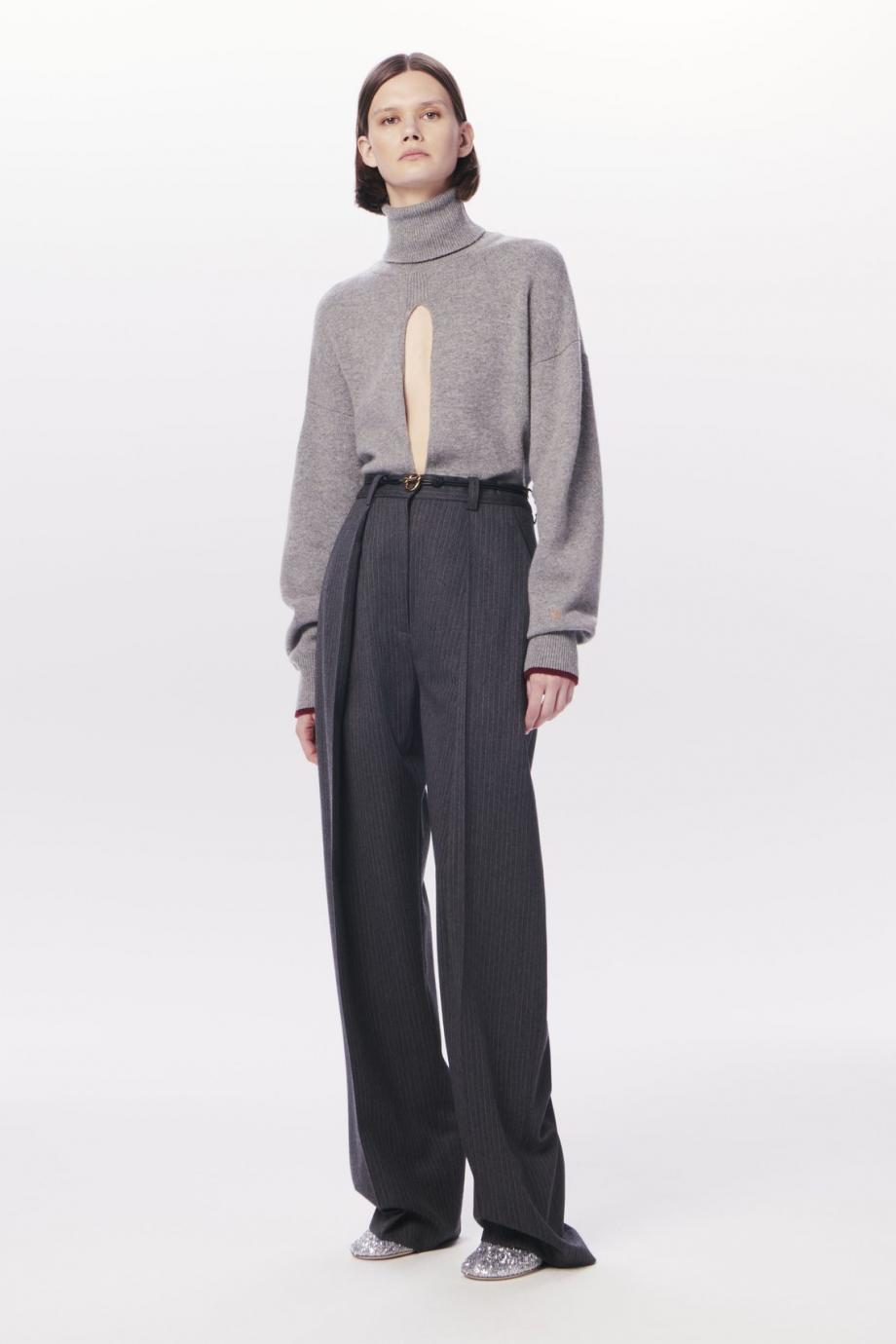 Cutout cashmere-blend turtleneck sweater