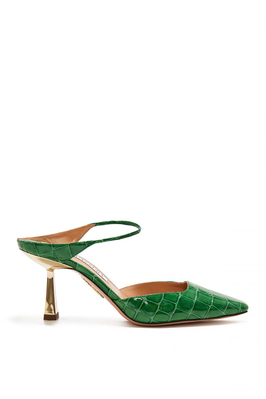 Iconic croc-leather mules