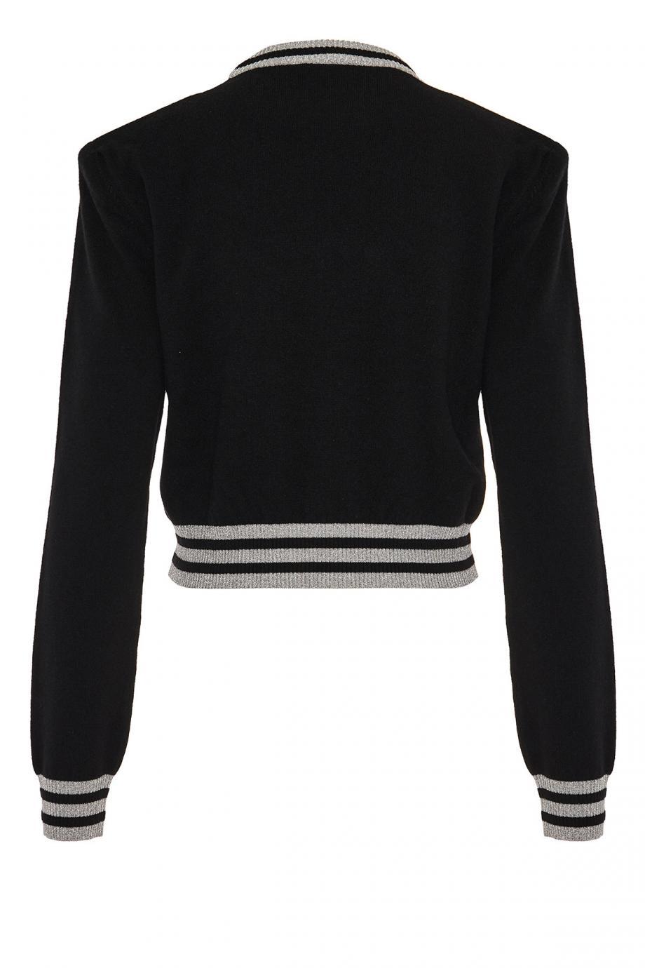 Intarsia wool-blend sweater
