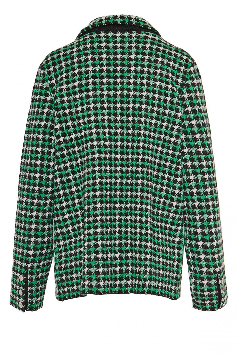 Houndstooth cashmere and wool blazer