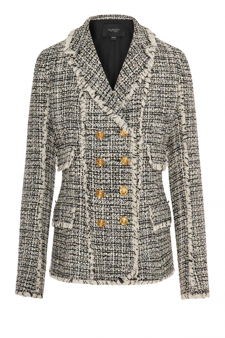 Lurex bouclé-tweed jacket