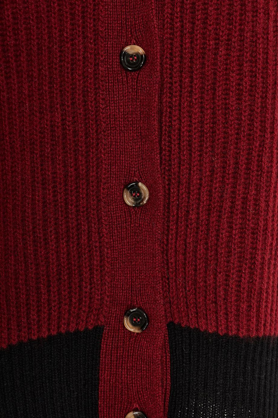 Ribbed cashmere cardigan