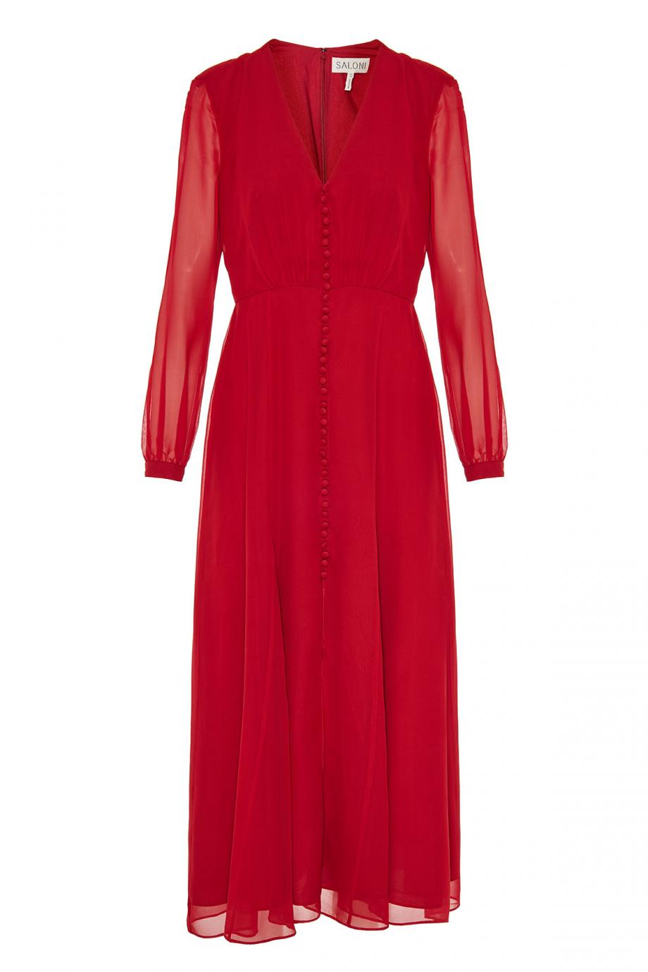 Annabel silk-chiffon midi dress