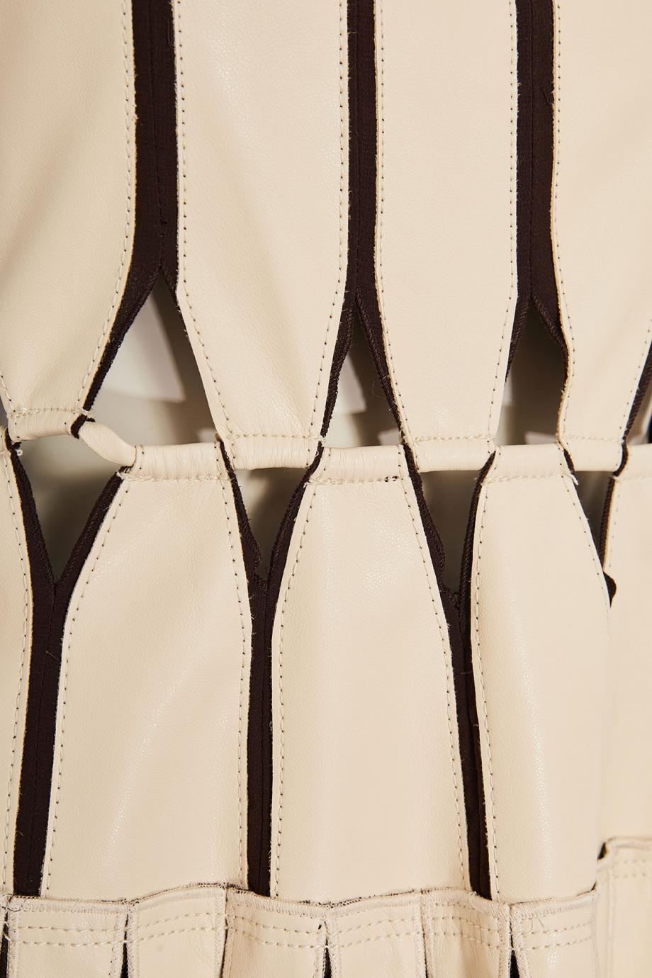 Vegan leather midi dress