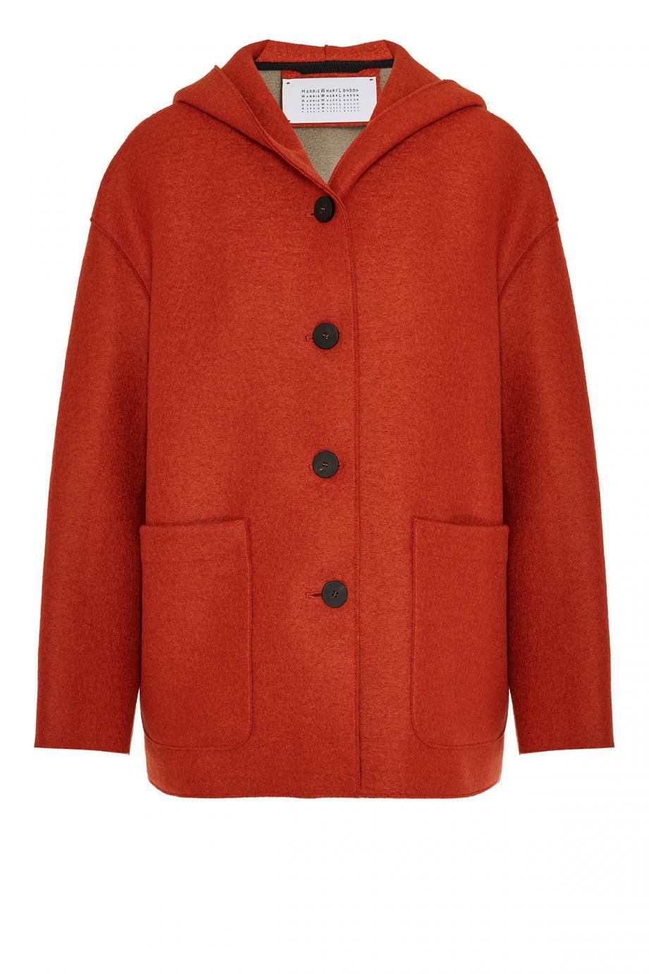 Oversized pressed-wool jacket