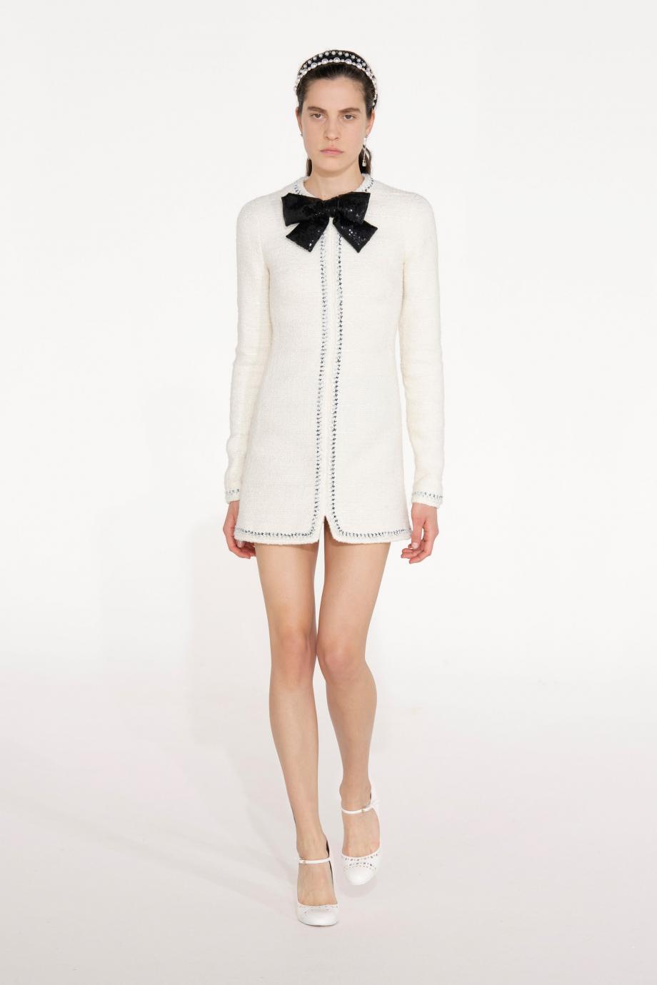 equined tweed mini dress