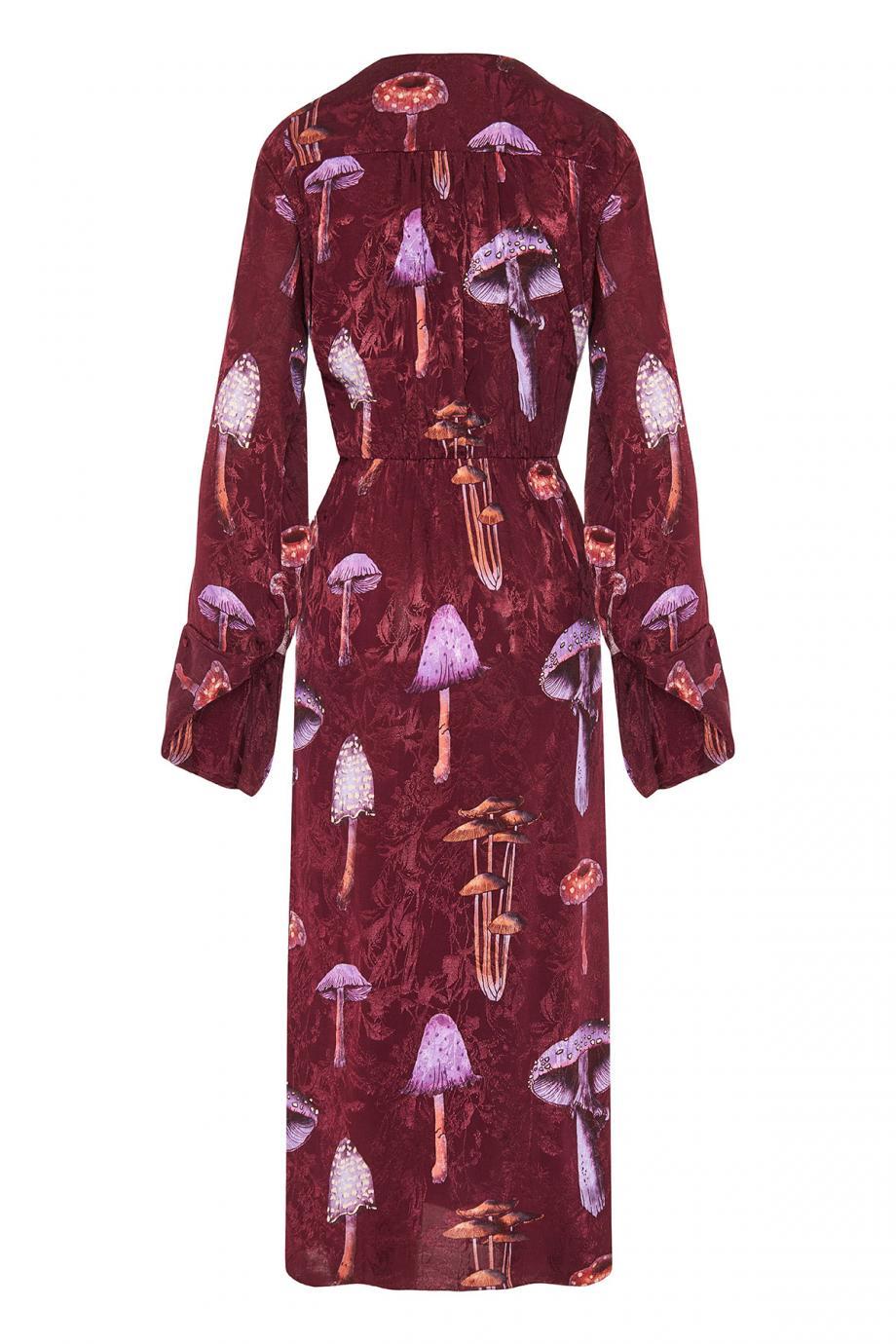 The Hidden satin-jacquard midi dress