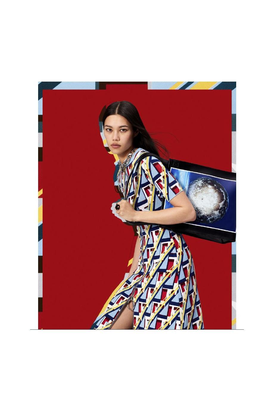 x Kimura Tsunehisa knitted midi dress